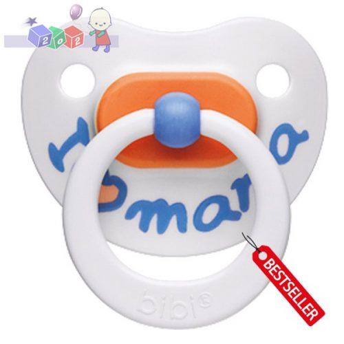 *Silikonowe ortodontyczne smoczki uspokajające Bibi Mama Pastel 6-12 miesięcy