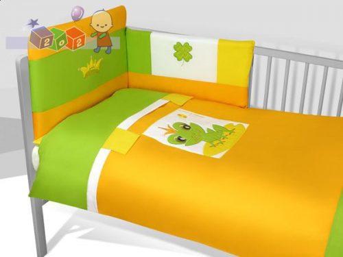 *Satynowa pościel dziecięca 3-elementowa Baby's Zone - Żaba Raba pomarańczowa