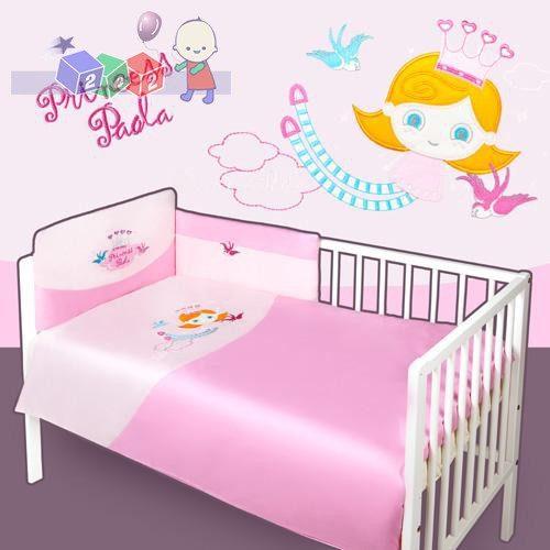 Pościel satynowa 3 elementy - ochraniacz + poszewki - pościele Baby's Zone Princess
