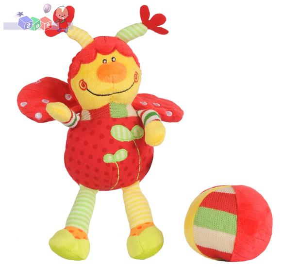 Welurowa biedronka z piłką - zabawki BabyOno