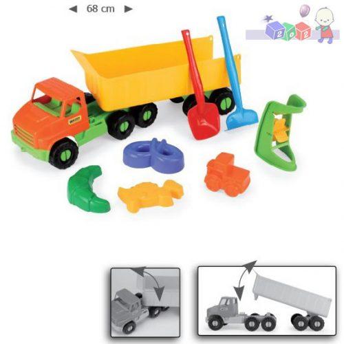 Samochód City Truck z naczepą 68 cm i kompletem do piasku 70380