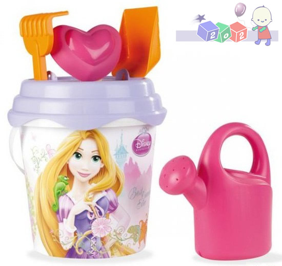 *Wiaderko Smoby 20 cm z bajki Disney Princess z akcesoriami do piasku 40195