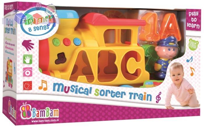 Zabawki interaktywne Bam Bam Muzyczny Sorter Lokomotywa 18m+