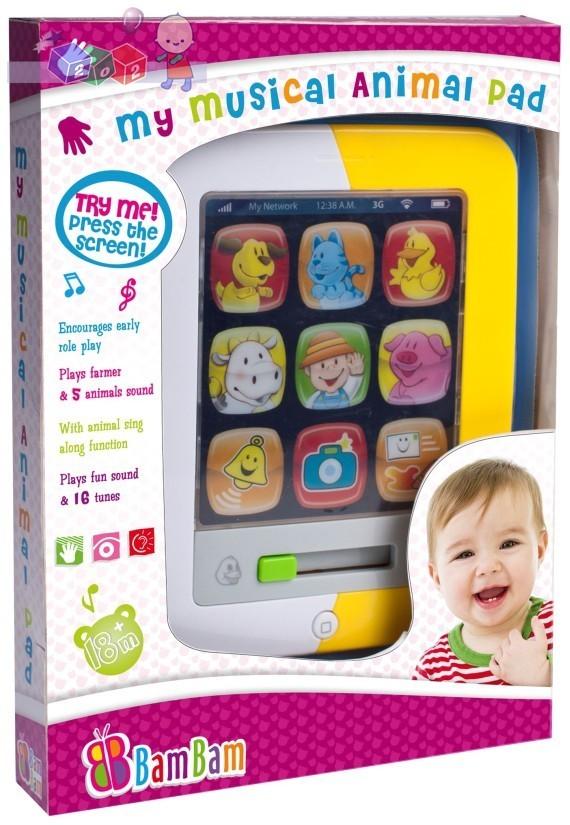 Tablet muzyczny dla dzieci 18m+ Bam Bam - 16 melodyjek