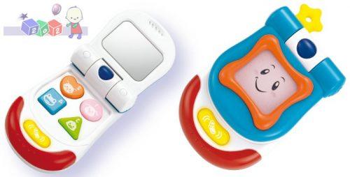 Uśmiechnięty telefon Smily Play z melodyjkami, lusterkiem i gryzakiem
