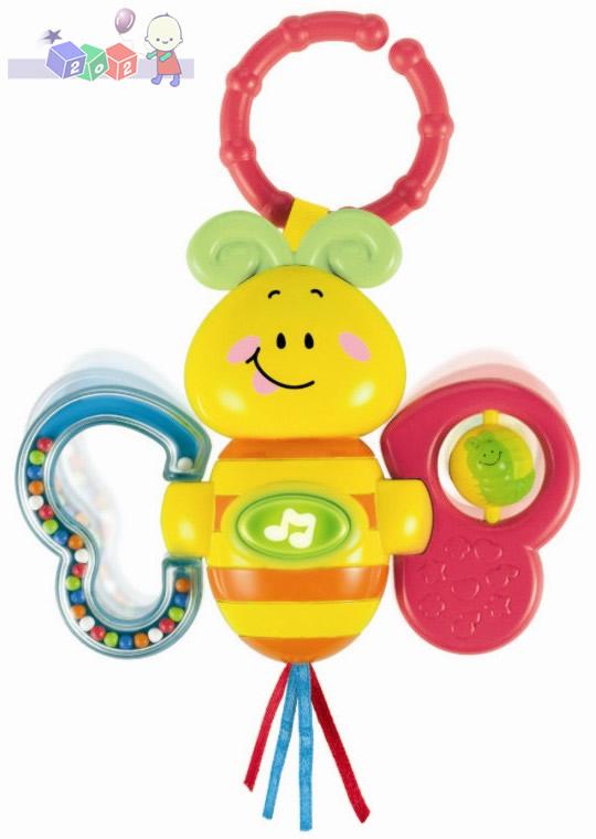 Wesołe zwierzaki Smily Play - grzechotka motylek z zawieszką