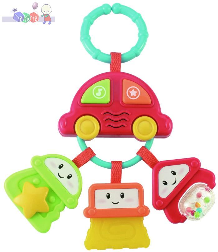 Auto z kluczykami Smily Play - zawieszka z grzechotką, gryzakiem i dźwiękami