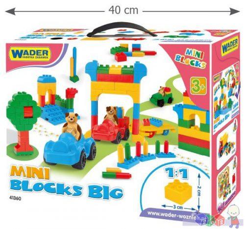 Duży zestaw klocków konstrukcyjnych w kartonie 300 elementów Wader 41360