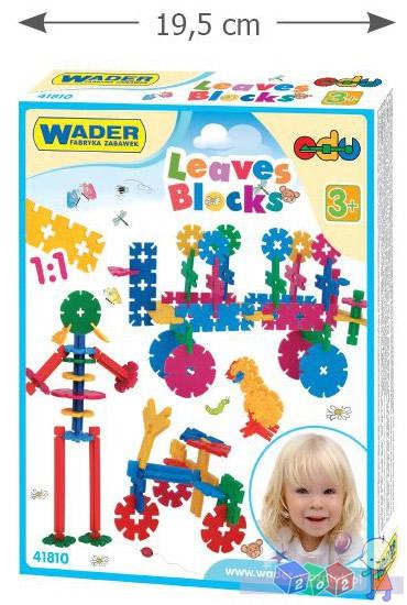 Klocki - listki zestaw klocków konstrukcyjnych Wader 41810