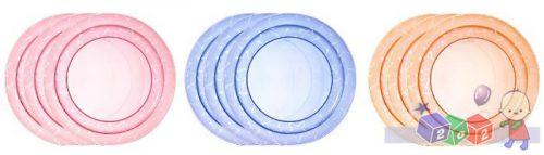 Zestaw 3 talerzyków Tommee Tippee Essentials Basic Plates 12m+