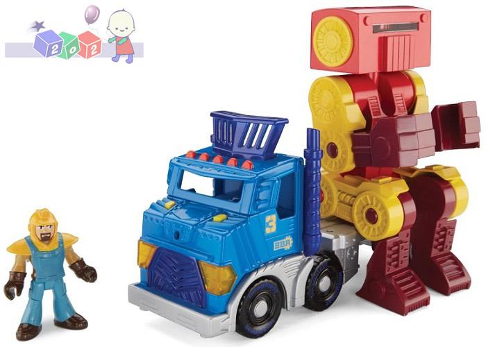 Fisher Price Imaginext - Wielka ciężarówka i robot