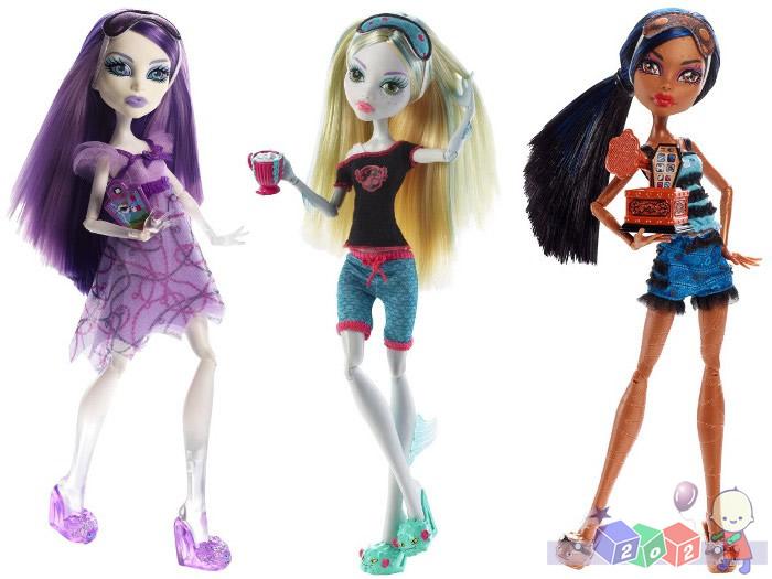 Lalka Monster High - Upiorne pidżama party