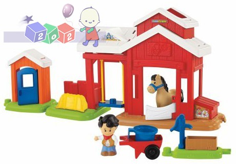 Fisher Price Little People - zestaw stajnia z firgurkami i akcesoriami