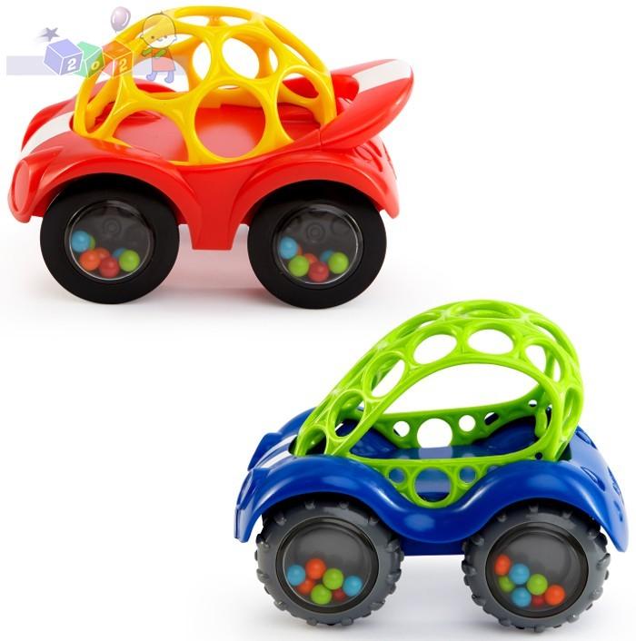 Kolorowy samochodzik z grzechoczącymi kółkami - Oball Autka 3m+