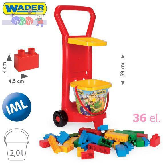 Wózek z klockami firmy Wader-Wozniak 10777
