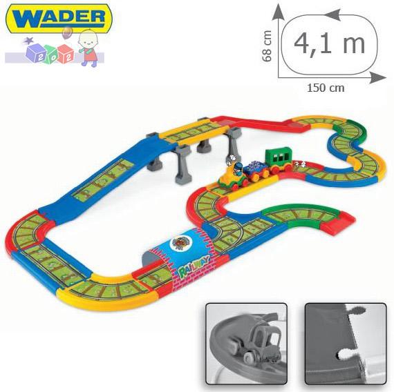 Kid Cars - Kolejka z mostem 4,1 m Wader 51711