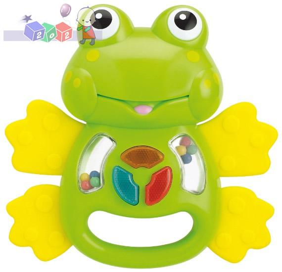 Żabka Śmieszka Smily Play - interaktywna zabawka z grzechotką, gryzakami, światełkami i dźwiękami 3m+