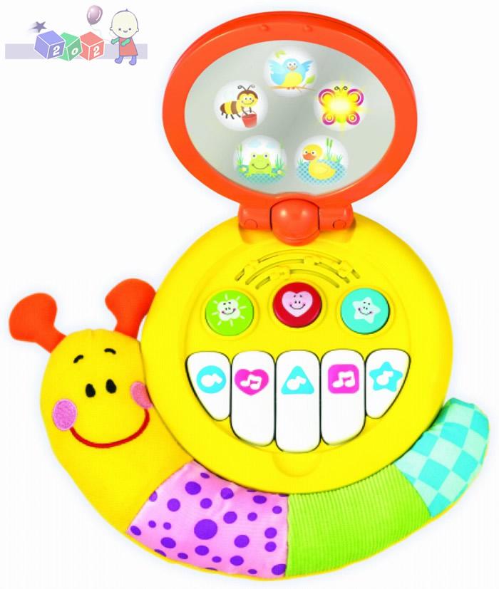 Ślimak magiczne lusterko Smily Play - interaktywna muzyczna zabawka zawieszka z pianinkiem 3m+