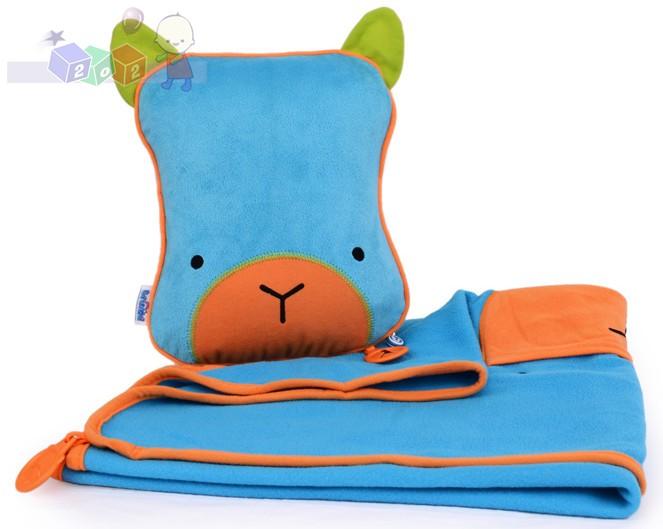 Pluszowy kocyk i poduszeczka - Snoozihedz Trunki - niebieski