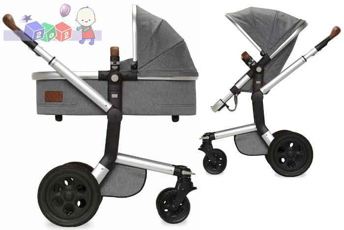Wózki dziecięce głęboko spacerowe Joolz Day Studio Noir i Gris + fotelik samochodowy 0-13 kg z testami ADAC