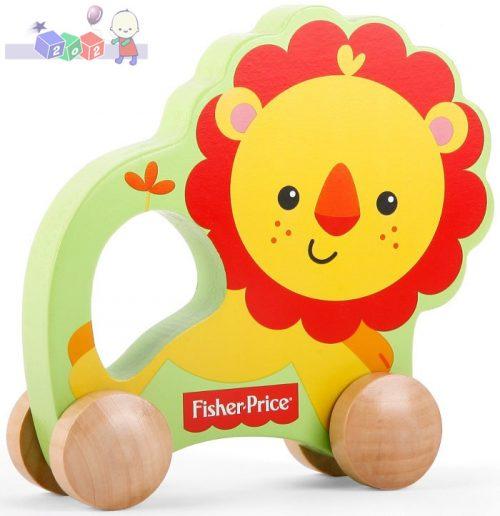 Drewniana zabawka dla dzieci 12m+ drewniany lew Fisher Price