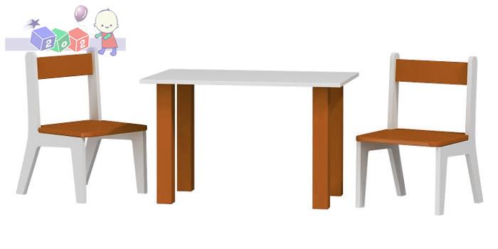 Stolik + 2 krzesełka Baby Best komplet dziecięcych mebli Karino 50x80x54h