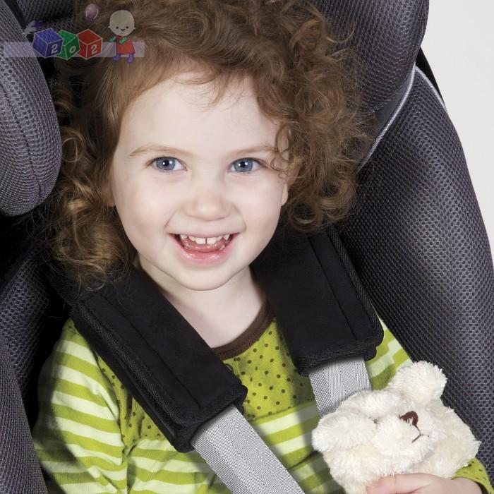 Miękkie ochraniacze na pasy do fotelików samochodowych Diono Soft Wraps - czarne