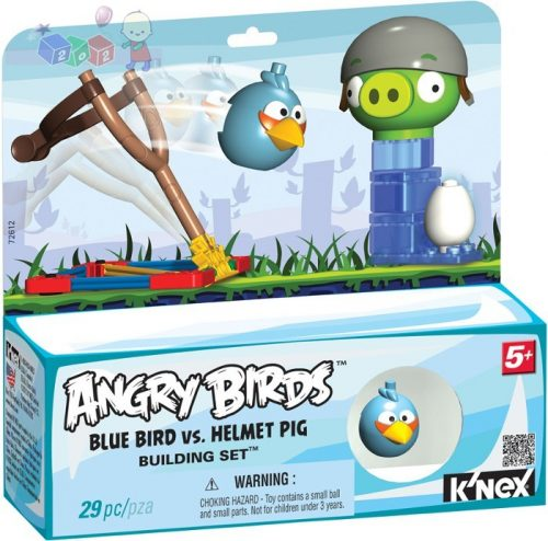 Angry Birds Blue Bird vs. Helmet Pig K'nex Tactic - 29 elementów