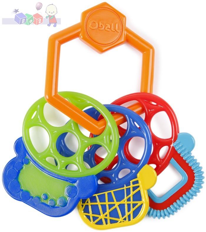 Oball Kluczyki gryzaki - zabawka stymulująca zmysły wzroku, słuchu i dotyku 3m+