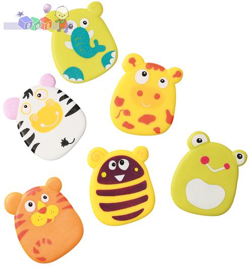 Zabawki kąpielowe z przyssawkami BabyOno 6 szt - dla dzieci powyżej 3 lat