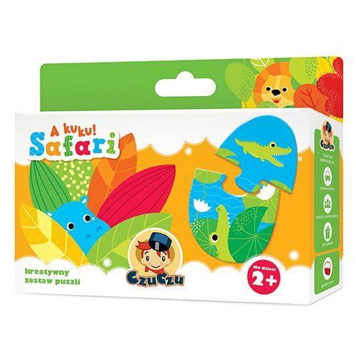 Układanka puzle dla najmłodszych 7 obrazków czu Czu A KuKu safari