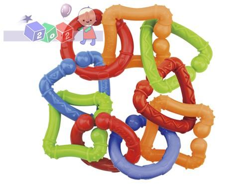 *Kolorowe kształty do łączenia zabawka edukacyjna 0+ K'S KIDS