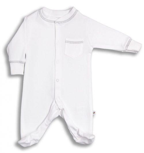 Nanaf Pajac niemowlęcy kolekcja Light Grey rozpinany z kieszonką_74