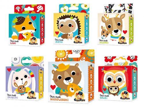 CzuCzu Mini puzzle Niedźwiadki dla trzylatków