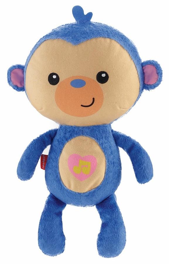 Fisher Price Przytulna małpka z kojącymi kołysankami i uspokajającym światełkiem