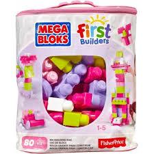 Duża torba z klockamai dla dziewczynki Mega Bloks 80 elemntów
