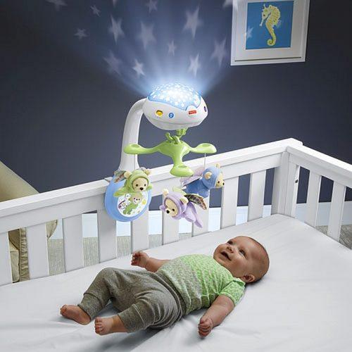Karuzela z Misiem do łóżeczka z projektorem Fisher Price