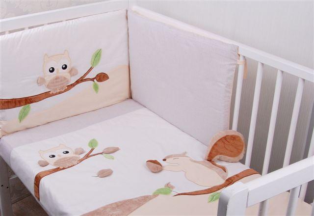 Pościel z bawełny satynowej z aplikacjami 3D Leśna przygoda Gluck