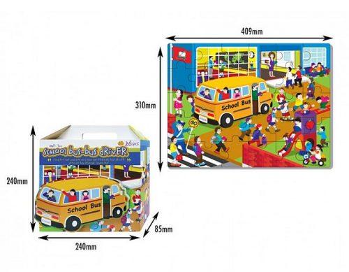 Edukacyjne puzzle piankowe Szkolny Autobus - 26 elementów