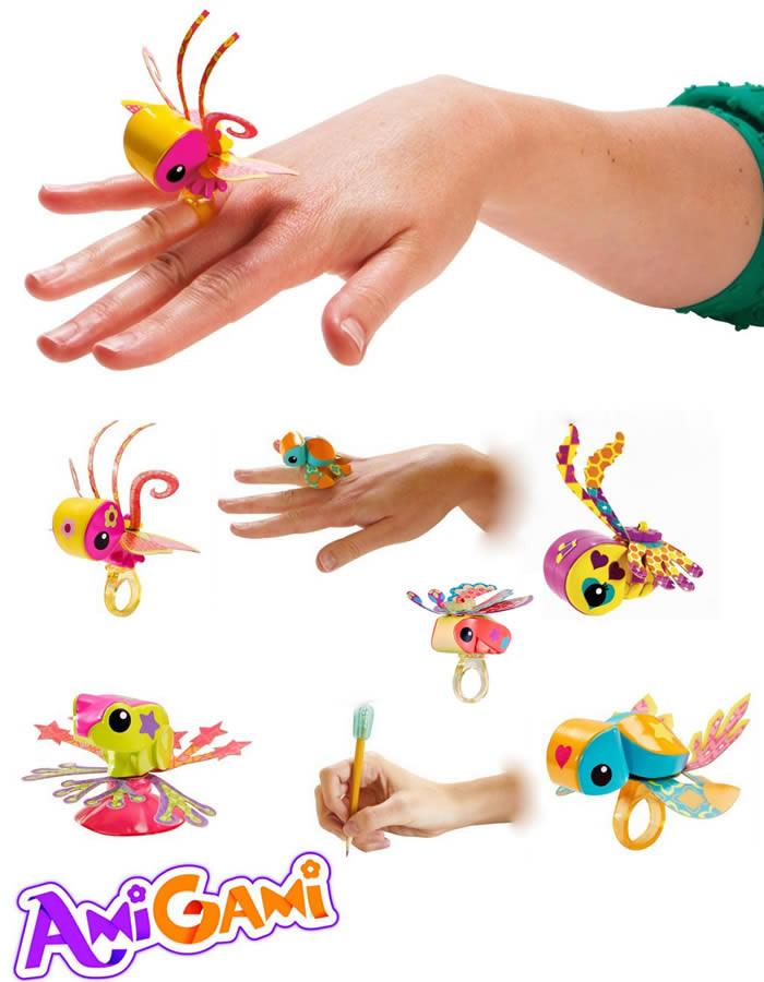 Mała figurka amigami - pierścionek zestaw do prac manualnych dla dzieci