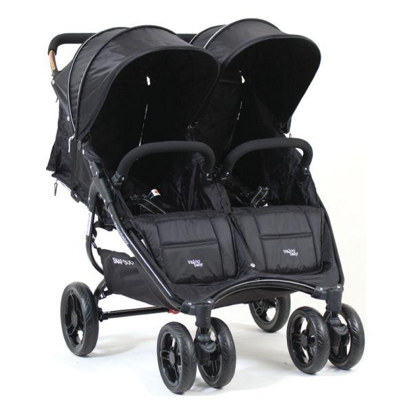 Lekki  9,8 kg wózek bliźniaczy spacerowy jeden obok drugiego Snap Duo Valco Baby