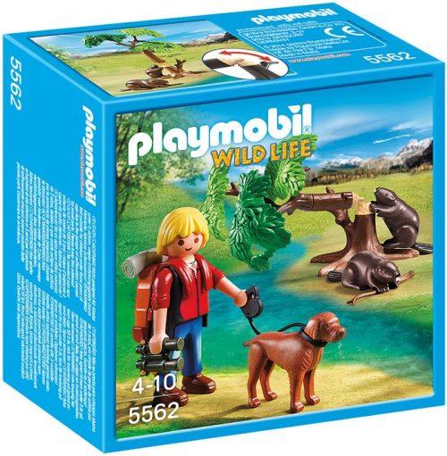 Playmobil drzewo z bobrami i przyrodnikiem 5562