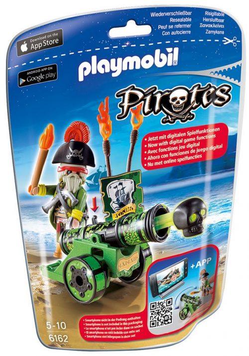 Playmobil zielona armata z aplikacją i kapitanem p