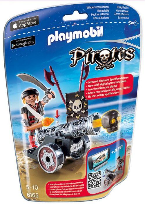Playmobil czarna armata z aplikacją i piratem 6165