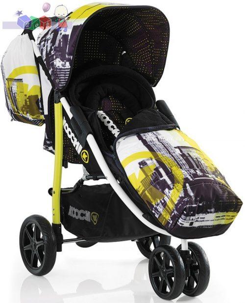 Lekki wózek spacerowy Koochi Pushmatic + śpiworek + torba - tylko 7 kg