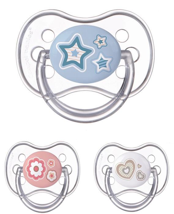 Smoczek uspokajający NewBorn Canpol Babies 0-6m okrągły