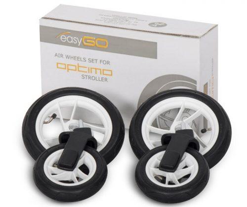 Koła pompowane do wózka Optimo, firmy Easy Go