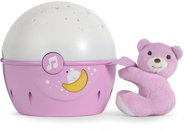Chicco Projektor na łóżeczko Miś - różowy