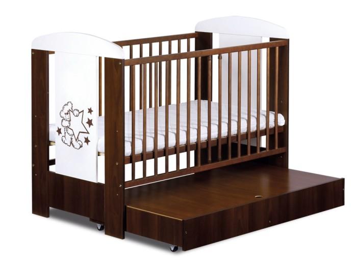 Łóżeczko Safari Miś z gwiazdkami 120x60 Klupś + szuflada