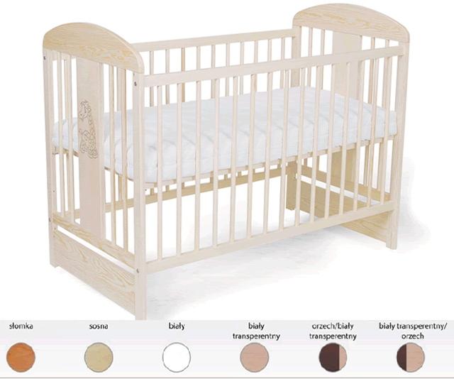 Solidne łóżeczko dziecięce z drewna sosnowego Tomi XII